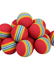Andux 40pcs balles de golf de pratique arc -en -ciel en rouge couleur CHQ