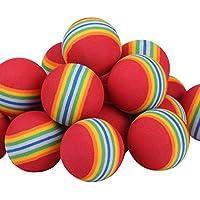 Andux confezione de 40 palline da golf in schiuma per allenamento CHQ rosso