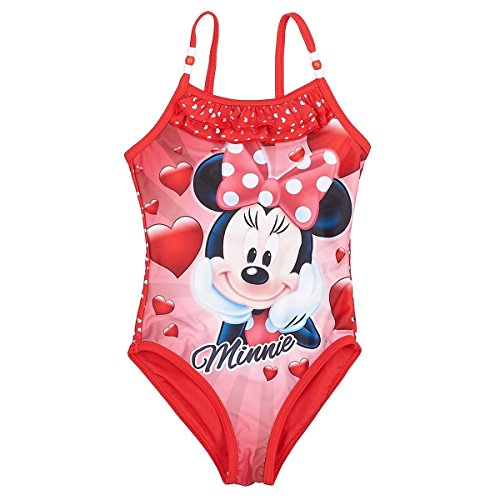 Maillot Yvmn0o8nw 8ans À Pièce Enfant 1 Fille Minnie Rouge De 3 Bain 8kONPXn0w
