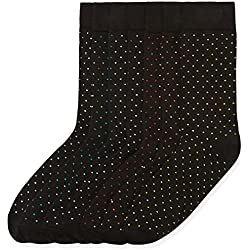 FIND Calcetines con Estampado Hombre, Pack de 7, Negro (Black), Medium