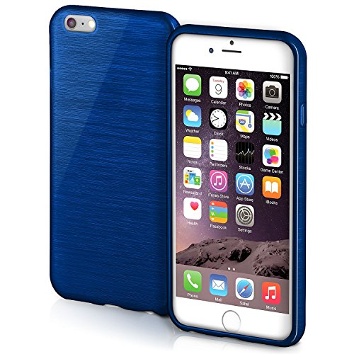 iPhone 6S Plus Hülle Silikon Lila [OneFlow Brushed Back-Cover] TPU Schutzhülle Ultra-Slim Handyhülle für iPhone 6 Plus / 6S + Plus Case Dünn Silikonhülle Rückseite Tasche NAVY-BLUE