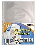 """A3 Dokumentenmappe, """"Punched Pocket"""" in Hochformat von Tiger, 10 Stück Packung"""