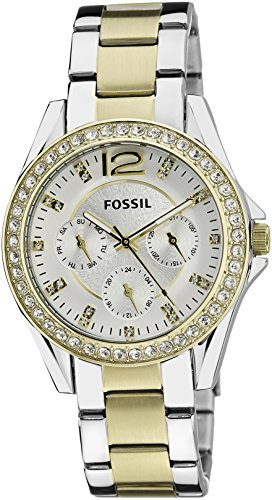 Fossil Riley Chronograph Silver Dial Women's Watch - ES3204I