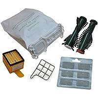 12 Staubsaugerbeutel, 5 lagig, aus hochwertigem Premium - Microvlies, für Allergiker geeignet, 1 Hygienefilter 1 Motorschutzfilter 2 x Duft, Bürsten EB 350 passend für Vorwerk - Kobold 135 / 136 / 135SC / VK135 / VK136 / FP135 / FP136 / FP135 SC