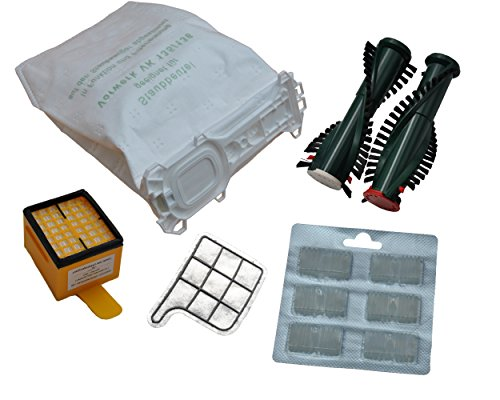 5 Staubsaugerbeutel VLIES Hygienefilter Motorschutzfilter 6 Duftblocks EB 350 Bürsten geeignet Vorwerk Kobold 135 136 135SC VK135 VK136 FP 135 FP135