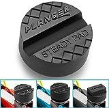 STEADY PAD - Premium Wagenheber Gummiauflage für Rangierwagenheber und Hebebühnen - Universal Gummiauflage Wagenheber - Schützt Ihren PKW und SUV dank praktischer Form und robustem Gummi. Ideal für Auto Tuning