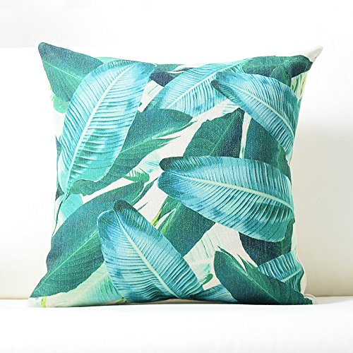 Confezione da 2fodere per cuscini pianta in cotone e lino cuscino Squlumbar copertura del cuscino, cotone/lino, 00N- tropical Basho Haiku, Lumbar pillow 40x65cm