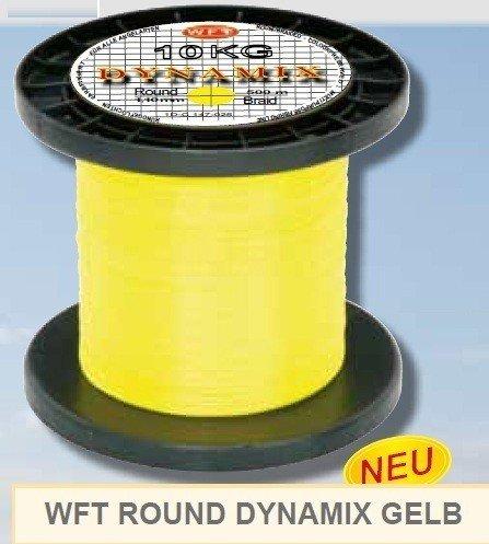 WFT Round Dynamix 1000m geflochtene Angelschnur, Durchmesser:0.20mm;Farbe:Gelb