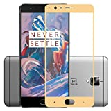 #2: Dashmesh Shopping Tempered Glass Screen Protector Full Cover Edge-to-Edge (Gold) for One plus 3 OnePlus 3T 1+3