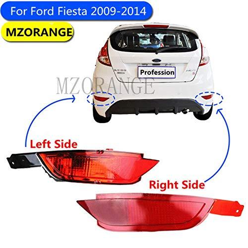 FidgetKute - Riflettore per paraurti Posteriore, per Ford Fiesta 2009-2014, Luce Freno Sinistro