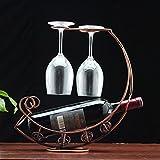 WINOMO Kreative Mond förmigen Tasse Inhaber Weinregal Brille hängen Weinregale (Antik Messing)