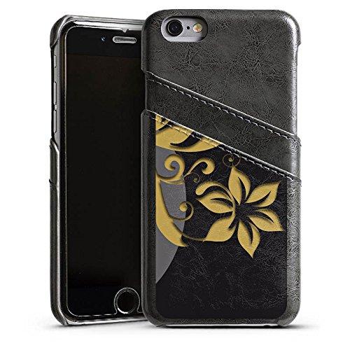 Apple iPhone 4 Housse Étui Silicone Coque Protection Fleurs Fleurs Ornements Étui en cuir gris