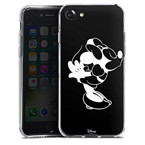 Apple iPhone SE Hülle Case Handyhülle Disney Minnie Mouse Merchandise Geschenke Silikon Case transparent