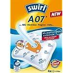 Swirl Staubfilterbeutel A 07 MicroPor Plus, 4 Beutel 1 Filter