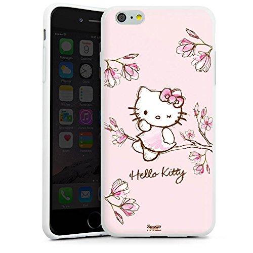 Apple iPhone 6 Silikon Hülle Case Schutzhülle Hello Kitty Merchandise Fanartikel Magnolia Silikon Case weiß