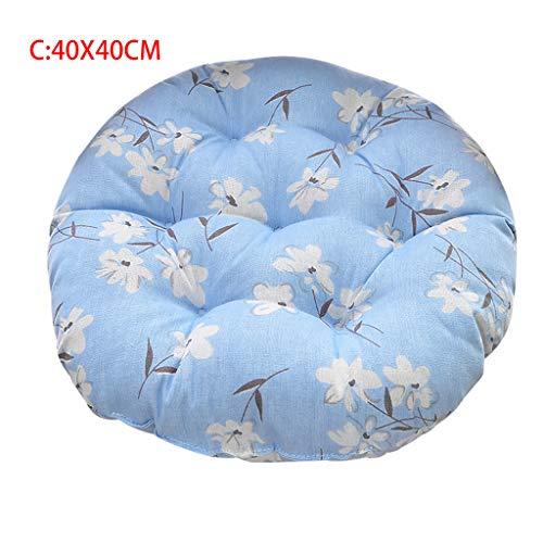 Webla Dekoration für zu Hause, Kissen mit rundem Kissen aus blau bedruckter Baumwolle Magnolia, Baumwolle / 40x40cm