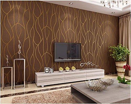 Yosot 3D-Geometrischen Streifen Vliestapeten Wohnzimmer Schlafzimmer Restaurant Fernseher Sofa Hintergrund Wand Hintergrundbild. Kaffee