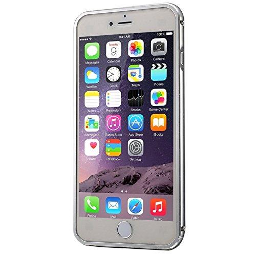 Phone case & Hülle Für IPhone 6 Plus / 6s Plus, Push-Pull-Stil Metallbeschichtung Stoßfänger + Acryl Back Cover Kombination Fall ( Color : Gold ) Silver