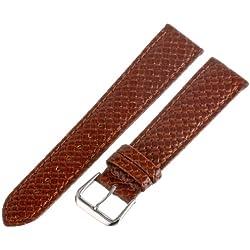 Hadley-Roma Men's MSM843RR-200 20-mm Tan Genuine Leather Watch Strap