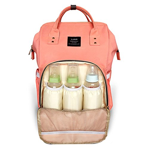 Preisvergleich Produktbild Mommy-Beutel-Art- und Weiseschulter-Mamma-Beutel-Rucksack-Multifunktionshochleistungs-Mutter-Baby Beutel-heraus Paket ( farbe : Orange )