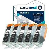 LCL Compatible PGI-555 XXL PGBK (5-Pack PGBK) Cartuchos de Tinta Compatible para Canon PIXMA MX925 MX725 IX6850