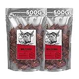 Ember Biltong 1kg - Carne Secca Beef Jerky Chili - Snack Proteico, Senza Zuccheri Aggiunti - Gusto Chilli (2x500g)