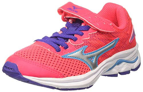 Mizuno Wave Rider 20 Jr V, Chaussures de Running Entrainement Fille Rose (Diva Pink/silver/liberty)