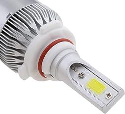 Cloudsale C6-H27 Conversion Kit 36W Car3800LM 6000K White HID Waterproof LED Headlamp Bulbs (Set of 2)