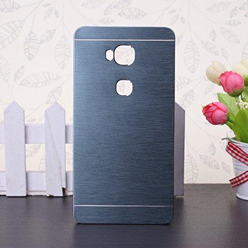 Huawei P8 h¨¹lle, Wkae® Luxus aus geb¨¹rstetem Stahl Metall Zur¨¹ck harte Fallplastikabdeckung f¨¹r Huawei P8 by Diebell(Red) Deep Blue