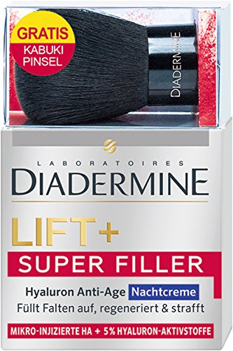 Diadermine Onpack Kabuki Pinsel Lift plus Super Filler Hyaluron Anti-Age Nachtcreme, 1er Pack (1 x...