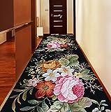 LHdt Alfombra de Pasillo, Pasillo del Hotel Escalera de 3D Alfombra de Flores, Sala de Estar del Dormitorio Alfombra de la cabecera del Dormitorio Antideslizante (Tamaño : 1.2M*8M)