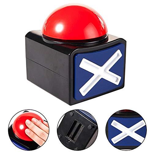 Game Buzzer, 1/2/4-teiliges Spiel-Antwort-Summeralarm Button mit Licht Ton, Party-Contest Requisite Spielzeug Neuheit und lustiges Spielzeug für Mädchen, rot -