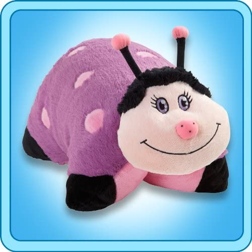 Pillow Pets 11 Inch Pee Wees - Dreamy    bug , Purple/Pink by Pillow Pets d674cc