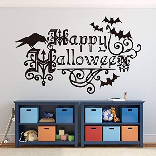 (Happy Halloween Kinderzimmer Schlafzimmer Wandaufkleber Benutzerdefinierte Großhandel Wasserdicht Abnehmbar)