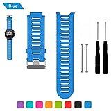 Bemodst Garmin Forerunner 910 XT Bracelet de remplacement, bracelet respirable de montre-bracelet de silicone avec des outils de retrait, bleu