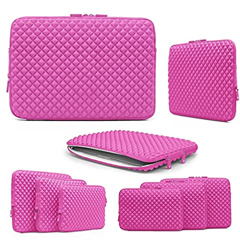 15 Inch Laptop Case, Urcover® Quilting Pattern Sleeve Notebook Case