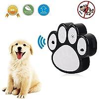 KOBWA 2018 Control Ultrasónico Mejorado de la Corteza del Perro - 50 Pies Eficaz, 100% Seguro para Mascotas y Humanos, Anti Barking al Aire Libre para Perros Pequeños/Medianos / Grandes