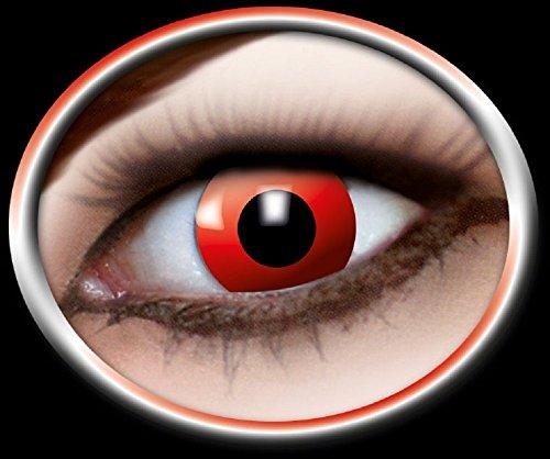 Eyecatcher Motivlinsen - farbige 3-Monats-Kontaktlinsen - red devil m03