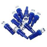 LED bombilla - TOOGOO(R) 10 T5 17 18 58 Lampara bombilla luz LED azul de salpicadero de cuna