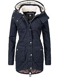 3254bfeaef8d5c Ragwear Damen Mantel Wintermantel Baumwoll Parka YM-Clancy (vegan  hergestellt) 3 Farben XS