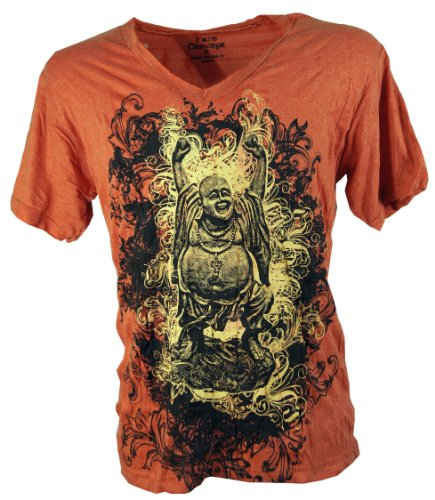 Pure T-Shirt Lucky Buddha / Sure T-Shirts Orange