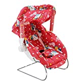 Ehomekart Kid's Red Carry Cot cum Bouncer - 11 in 1 (Print May Vary) - FEEDING CHAIR, BABY CHAIR, ROCKER, CARRYING, BOUNCER & BABY SWING