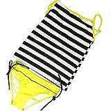 Mädchen-Tankini, Bade- und Strandbekleidung, 7-13 Jahre, M 56 Gr. 158 cm 11-12 Jahre, Black/White Yellow