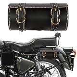 #2: Autofy Universal Double Strap Saddle Bag for All Bikes (Black, Golden)