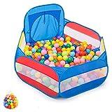 JIMI-I Baby Box Kids Ball Pit Grande Pop Up Toddler Ball Pits Tenda per i più Piccoli Ragazzi per Interni (Blu/Rosa) (Colore : Blu, Dimensioni : 400 Balls)
