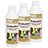 HG Entkalker für Espresso- & Kaffee-Pad-Maschinen, 3er Pack(3 x 500 ml)
