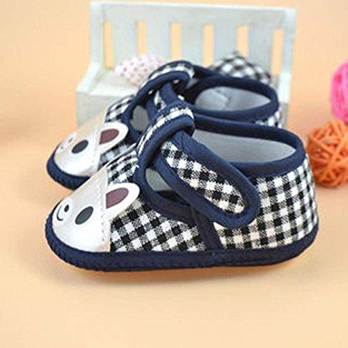 Clode® Chaussures Bébé unisexe Enfant Soft Sole Tissu avec Soft Sole Mignon Sneaker Prewalker (0~3 Mois, Bleu) Bleu