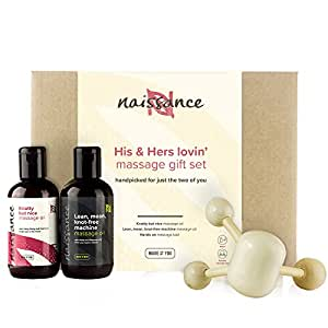 Naissance Huiles de Massage Moment à Deux 'His & Hers' Coffret Cadeau Sensuel et Romantique Pour Toute Occasion