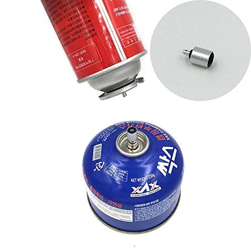 Forfar Gas adaptador Válvula plana cilindro del enganche de accesorios Acampar al...