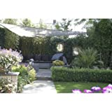 Sunfighters Sonnensegel Dreieck Sonnenschutz Tarp Schattenspender Garten UV-Schutz Atmungsaktiv HDPE 3,6 meter Grau
